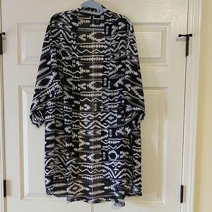 Sheer kimono XL